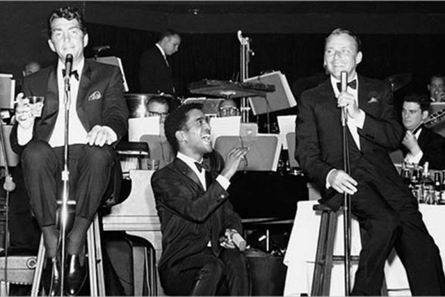 Dean Martin, Sammy Davis Jr. and Frank Sinatra at the Copa Room in an undated picture.  (Special to View)