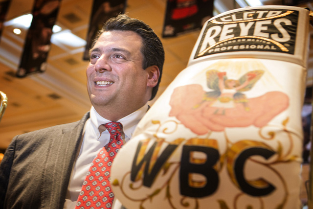 WBC president Mauricio Sulaiman during the WBC 52nd convention in the  Events Center at The Mirage hotel-casino on Monday, Dec. 15, 2014. Sulaiman was appointed president after his father and long ...