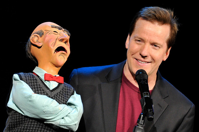 Ventriloquist Jeff Dunham performs with his puppet, Walter, at the Planet Hollywood hotel-casino on Sunday, Nov. 30, 2014. Dunham (David Becker/Las Vegas Review-Journal)