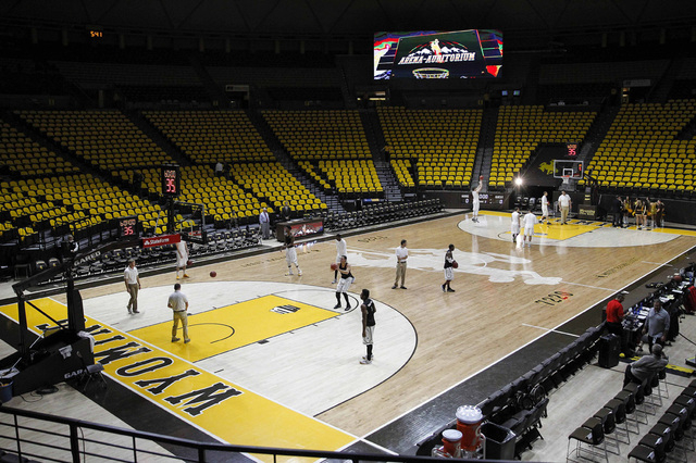 A general view of the Arena-Auditorium before the game between the Wyoming Cowboys and the UNLV Runnin' Rebels. (Troy Babbitt-USA TODAY Sports)