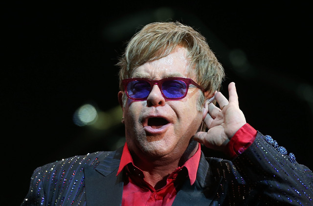 Elton John performs for fans at the Sydney Entertainment Centre on November 15, 2012 in Sydney, Australia.  (Courtesy, Mark Metcalfe/Getty Images/Thinkstock)