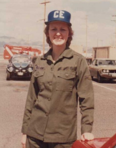Air Force veteran Merle Voight is shown at Nellis Air Force Base in 1985. A former nurse, she was diagnosed with breast cancer and underwent treatment in 2014 at 21st Century Oncology of Las Vegas ...