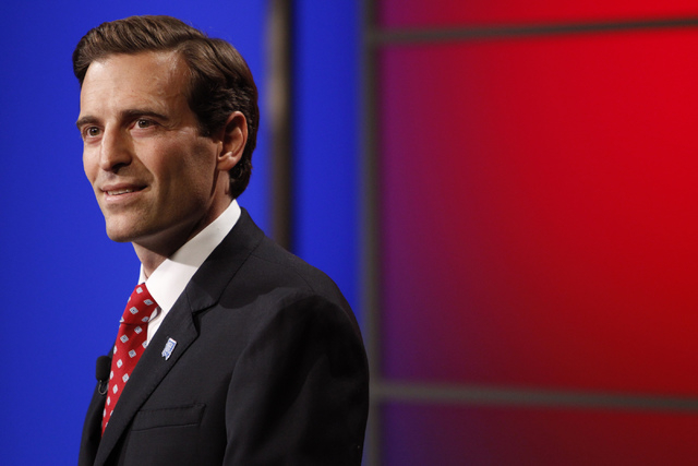 Adam Laxalt is seen at Vegas PBS in Las Vegas on Oct. 10, 2014. Laxalt announced on Monday that Nevada has joined a lawsuit with more than two dozen states challenging President Barack Obama's e ...