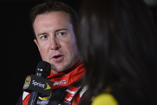 NASCAR Sprint Cup Series driver Kurt Busch is interviewed during media day for the 2014 Chase for the NASCAR Sprint Cup at The Murphy Chicago on Sept. 11, 2014. (Jasen Vinlove/USA TODAY Sports)
