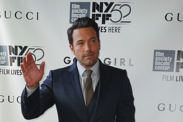 "Actor Ben Affleck attends the 52nd New York Film Festival opening night gala presentation of the movie ""Gone Girl"" at Alice Tully Hall in New York in this file photo from September 26, 2014. Affle ..."