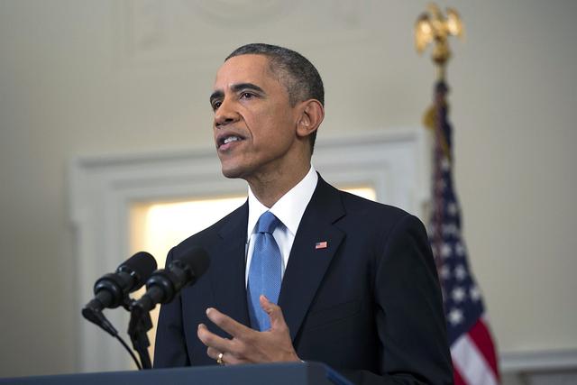 U.S. President Barack Obama on December 17, 2014. (REUTERS/Doug Mills/Pool)