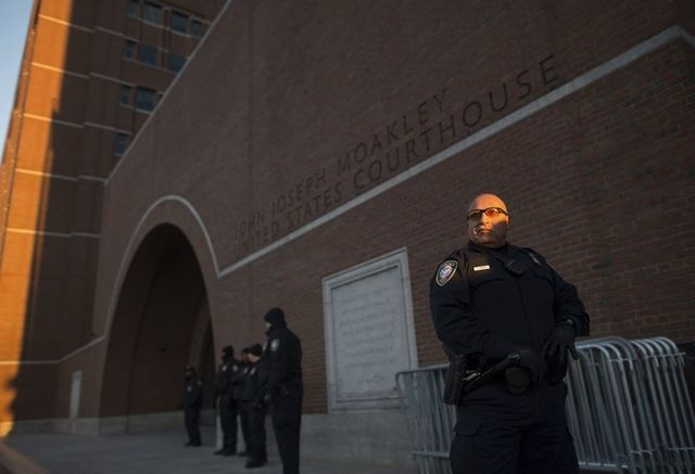 Security surrounds the John Joseph Moakley United States Courthouse as jury selection begins in the trial of accused Boston Marathon bomber Dzhokhar Tsarnaev in Boston, Massachusetts, January 5, 2 ...