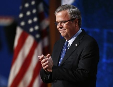 Former Florida Gov. Jeb Bush addresses the final session of the Republican National Convention in Tampa, Florida, August 30, 2012. Bush has announced he is exploring a possible run for the White H ...