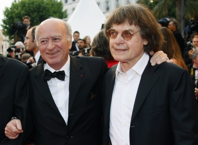 French caricaturists Georges Wolinski, left, and Cabu arrive for a film screening at the 61st Cannes Film Festival in May 17, 2008. Caricaturists Wolinski and Cabu were among  journalists killed w ...