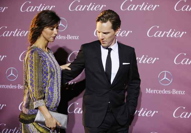 Actors Sophie Hunter (L) and Benedict Cumberbatch pose at the 26th Annual Palm Springs International Film Festival Awards Gala in Palm Springs, California in this file photo taken January 3, 2015. ...
