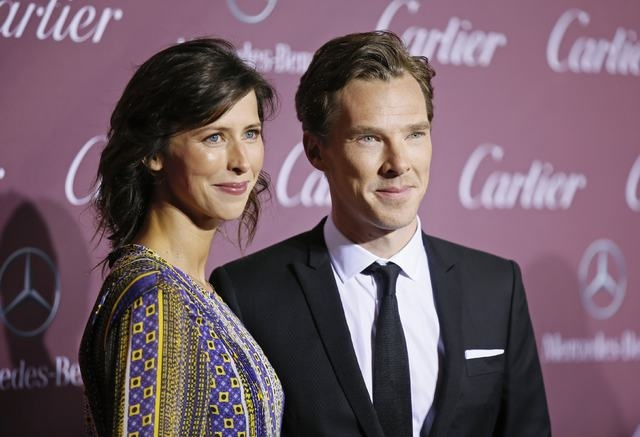 Actors Sophie Hunter (L) and Benedict Cumberbatch pose at the 26th Annual Palm Springs International Film Festival Awards Gala in Palm Springs, California, in this file photo taken January 3, 2015 ...