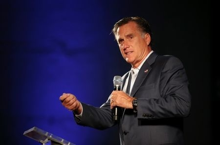 Former Massachusetts Gov. Mitt Romney speaks on behalf of candidate for U.S. Senate Thom Tillis, R-N.C., at a campaign stop in Raleigh, North Carolina, Oct. 29, 2014. Romney has re-emerged as a po ...