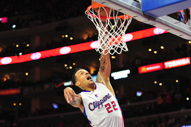 January 16, 2015; Los Angeles, CA, USA; Los Angeles Clippers forward Matt Barnes (22) scores a basket against the Cleveland Cavaliers during the second half at Staples Center. (Gary A. Vasquez-USA ...