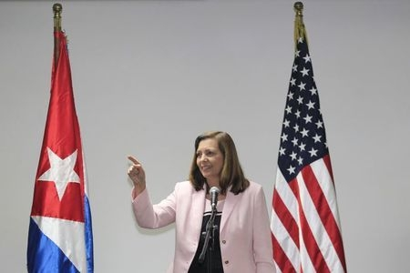 Director of the Cuban Foreign Ministry's North American affairs office Josefina Vidal talks to the media during negotiations to restore diplomatic ties with the U.S. in Havana, Wednesday, Jan. 21, ...