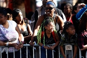 Viewers line up to watch the 29th annual Martin Luther King Jr. Day Parade in downtown Las Vegas on Jan. 17, 2011. (Review-Journal file photo)