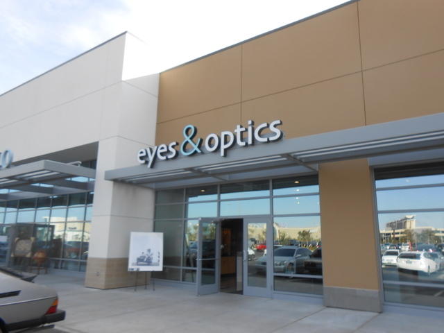 The exterior of Eyes & Optics is shown at Downtown Summerlin. Dr. Edward Malik said he liked the spot near Trader Joe's. (Jan Hogan/View)