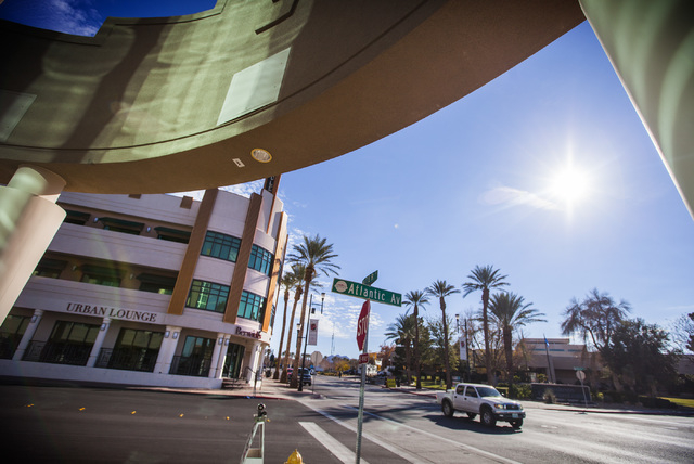 The 200 block of Water Street in Henderson is seen Friday, Jan. 9, 2014. City officials and businesses are trying to remake the downtown corridor.  (Jeff Scheid/Las Vegas Review-Journal)