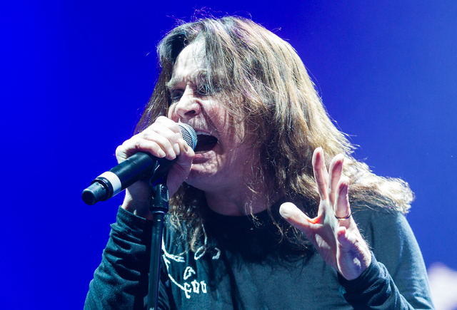 Ozzy Osbourne performs with Black Sabbath at the MGM Grand Garden arena on Sunday, Sept. 1, 2013. (Chase Stevens/Las Vegas Review-Journal)