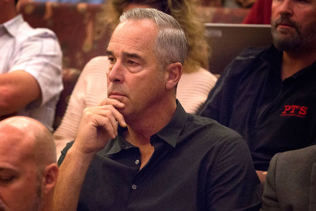 Blake L. Sartini, CEO of Golden Gaming, attends the Clark County Commission slot-only tavern ordinance hearing on Dec. 2, 2014. Golden Gaming announced Monday, Jan. 26, 2015, that it has merged wi ...