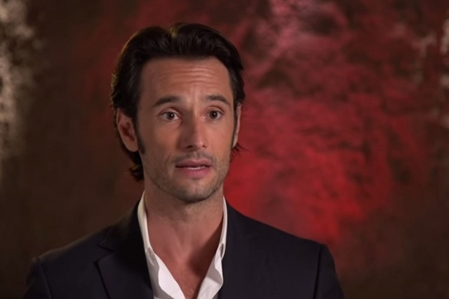 """Rodrigo Santoro is seen in a February 2014 interview for """"300 Rise of an Empire."""" (Screengrab, MOVIES Coming Soon/Youtube)"""