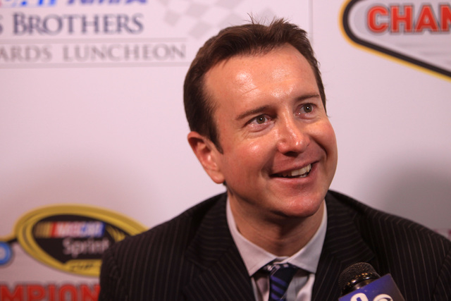 Kurt Busch is seen during a media availability as part of NASCAR's Champions Week Thursday, Dec. 4, 2014 at Encore. (Sam Morris/Las Vegas Review-Journal)