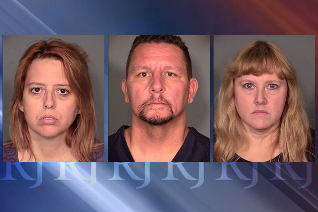 Terrie, Christopher and Deborah Sena. (Courtesy Las Vegas Metropolitan Police Department)
