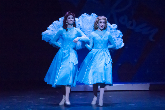 "Brooke Solan, left, a senior and Faith Lutheran Conservatory of the Fine Arts theater performance major, and Jessica Ruettiger perform in December in ""White Christmas"" at Faith Lutheran High Schoo ..."