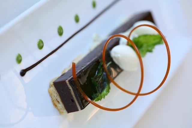 Dark chocolate spearmint pie, Chocolate & Spice (Courtesy)