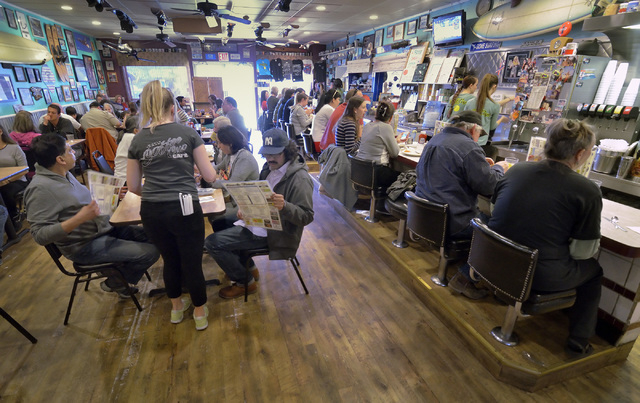 The interior of the Coffee Cup Cafe is shown at 512 Nevada Highway in Boulder City on Saturday, Jan. 24, 2015. (Bill Hughes/Las Vegas Review-Journal)