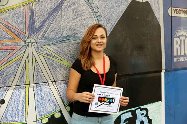 Aleya Porter of Fertitta Middle School, 9905 W. Mesa Vista Ave., was one of the two top winners of the Regional Transportation Commission of Southern Nevada's annual Anti-Graffiti Art Contest. Her ...