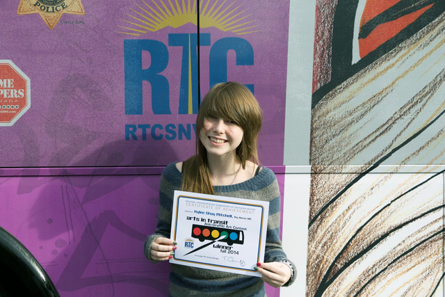 Kylee Shay Mitchell of Martin Middle School, 200 N. 28th St., was one of the two top winners of the Regional Transportation Commission of Southern Nevada's annual Anti-Graffiti Art Contest. Her ar ...