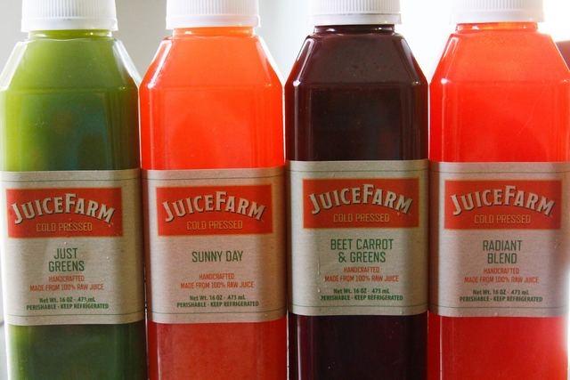 Cold-pressed juices, JuiceFarm, Palazzo (Courtesy)