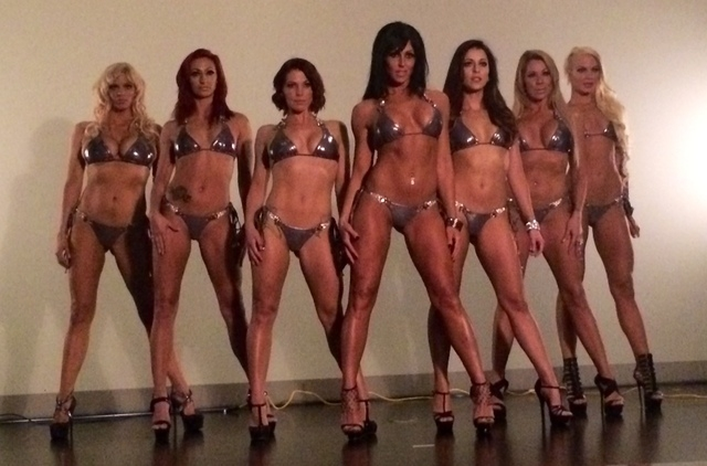 """The cast of """"Sexy,"""" the new topless cabaret revue at the Westgate Las Vegas. (Courtesy)"""