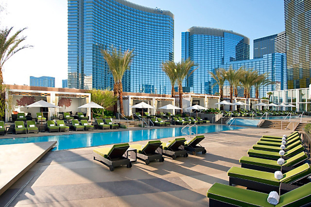 Mandarin Oriental residents share the hotel's amenities such as the pool area with hotel guests. (Courtesy photo )