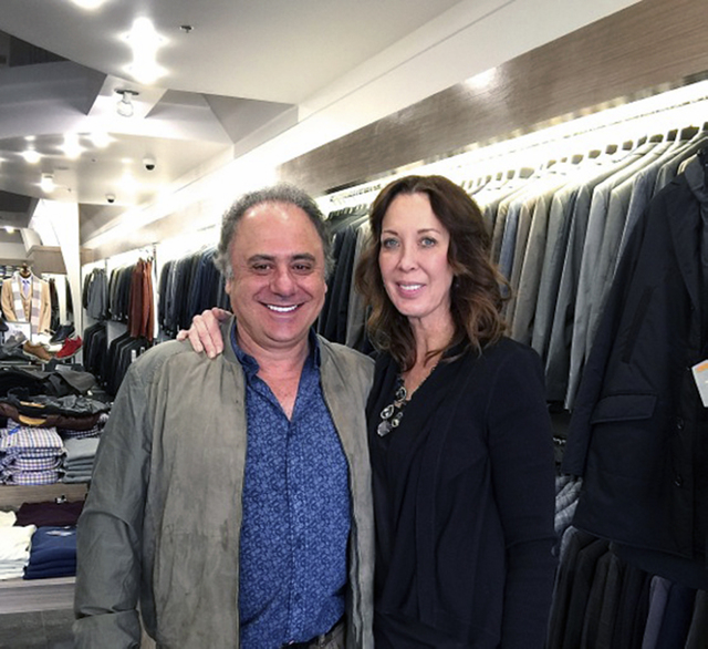 Mastroianni Fashions owner Vasili Lazarou's wife, Carrie, recently began working at the business' Boca Park location, 750 S. Rampart Blvd. (Diane Taylor/Special to View)