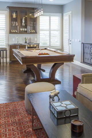 The Spring Valley home has a pool table room. (Tonya Harvey/Real Estate Millions)