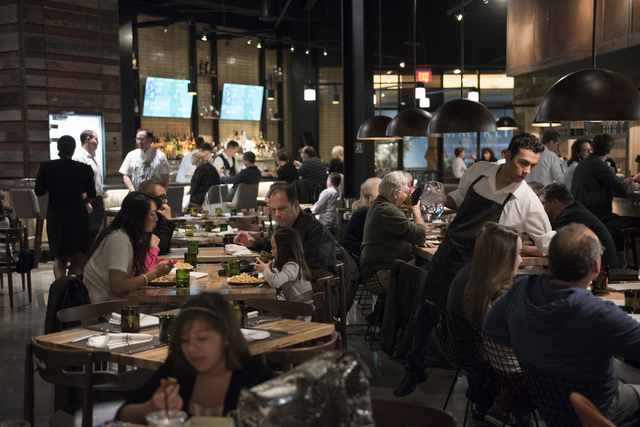 The interior of Wolfgang Puck Bar & Grill in Downtown Summerlin in Las Vegas is shown Saturday, Jan. 10, 2015. (Martin S. Fuentes/Las Vegas Review-Journal)