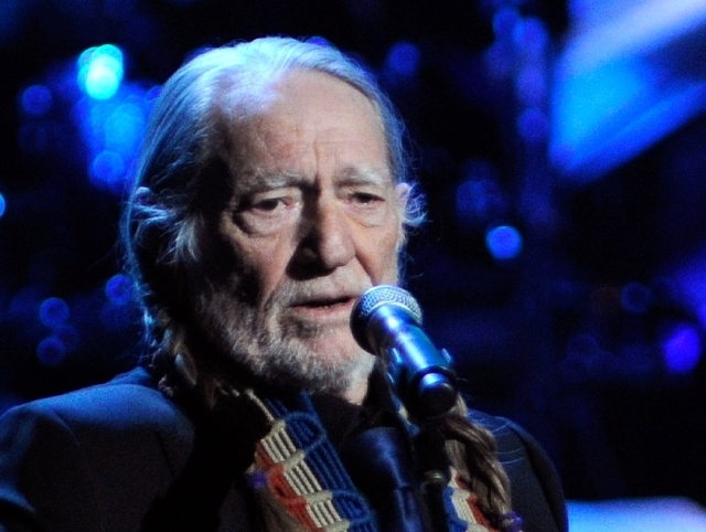 Singer Willie Nelson performs during the opening night of The Smith Center for the Performing Arts on Saturday, March 10, 2012. (David Becker/Las Vegas Review-Journal)