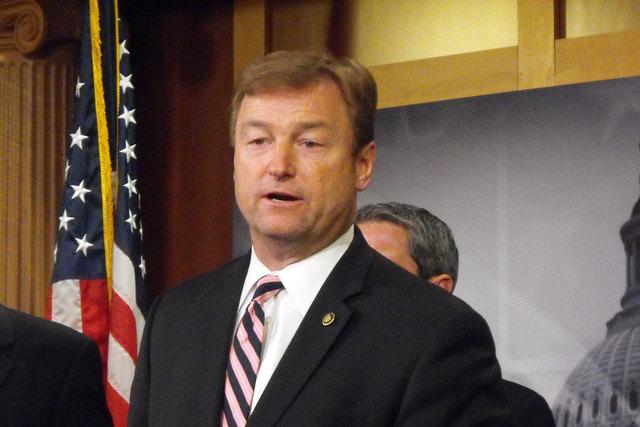 "Sen. Dean Heller, R-Nev., on Wednesday reintroduced the ""No Budget, No Pay Act."" (Steve Tetreault/Stephens Washington Bureau, file)"