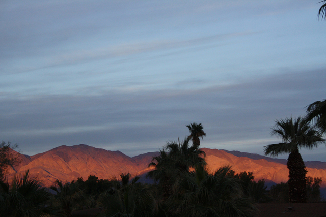 Sunset at Furnace Creek Ranch at Death Valley National Park, Calif.  (DEBORAH WALL/SPECIAL TO VIEW)