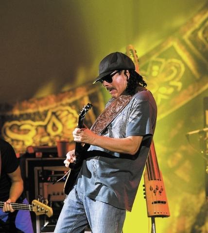 RJ FILE*** DUANE PROKOP/LAS VEGAS REVIEW-JOURNAL Guitar legend Carlos Santana performs during his Supernatural Santana show at The Joint to celebrate the launch of Carlos Santana's new Album 'Guit ...
