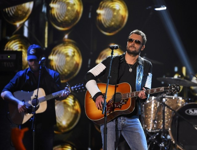 """Eric Church performs """"Talledega"""" during the American Country Countdown Awards in Nashville, Tennessee December 15, 2014.    REUTERS/Harrison McClary (UNITED STATES  - Tags: ENTERTAINMENT)"""
