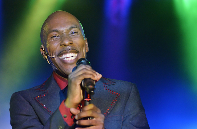"""Eric Jordan Young performs during """"Shakin'"""" at the Sin City Theater in the Planet Hollywood hotel-casino at 3667 Las Vegas Blvd., South, in Las Vegas on Saturday, Oct. 18, 2014. (Bill Hu ..."""