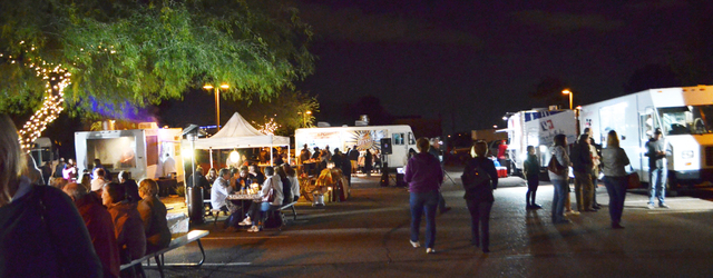 Try a bit of everything at Food Truck Caravan's Street Food Saturdays in Scottsdale, Ariz. Every week from 6:30 to 10:30 p.m. a rotating lineup of 10 or more trucks circles a lot at Fifth Avenue ...