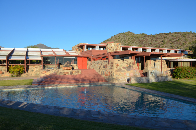 In 1937, at the age of 70, Frank Lloyd Wright and his apprentices began work on Taliesin West, his personal winter home, studio and architectural campus in the foothills of the McDowell Mountains  ...
