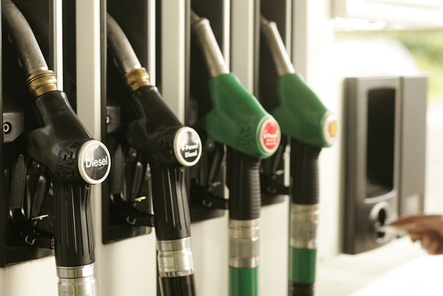 Diesel and gas pump nozzles. (Mark Renders/Getty Images/Thinkstock)