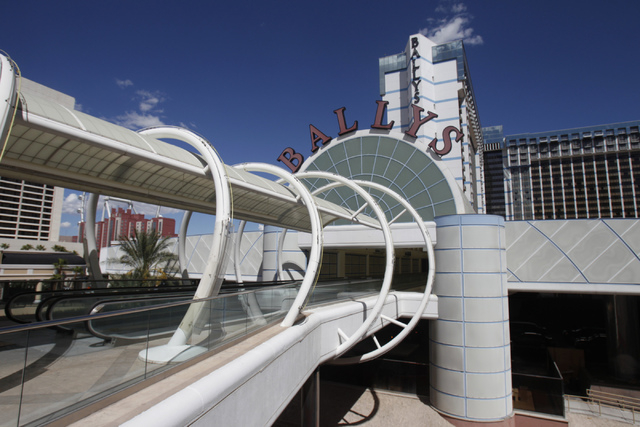 The future entrance from the Grand Bazaar Shops to Bally's casino-hotel in Las Vegas is seen during a tour Thursday, Sept. 4, 2014. Michael Diebel, project manager with the Penta Building Group, e ...