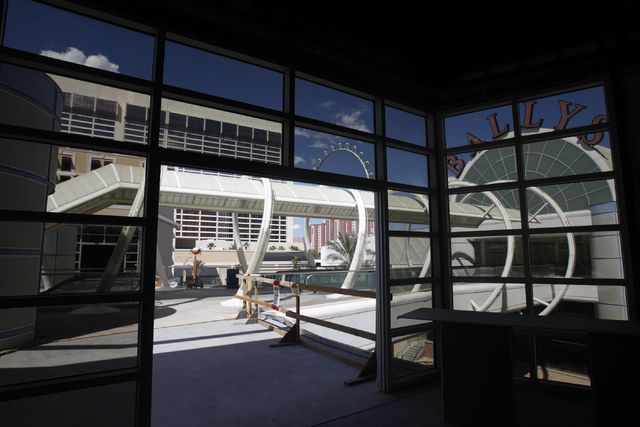 The construction site of the Grand Bazaar Shops at Bally's casino-hotel in Las Vegas is seen from inside a building during a tour Thursday, Sept. 4, 2014. Michael Diebel, project manager with the  ...