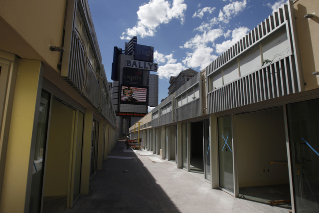 The construction site of the future Grand Bazaar Shops at Bally's casino-hotel in Las Vegas is seen during a tour Thursday, Sept. 4, 2014. Michael Diebel, project manager with the Penta Building G ...