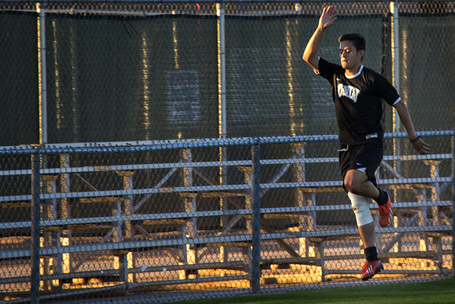 UNLV men's soccer leading scorer Salvador Bernal during practice at Peter Johann Soccer Field on Monday, Nov. 10, 2014. The 2014 WAC conference champions depart this week for the conference tourna ...